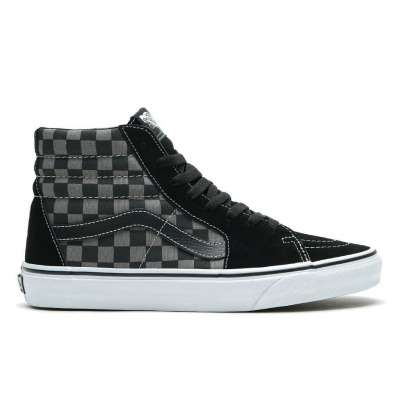 Vans Sk8-Hi Black/Pewter Checkerboard