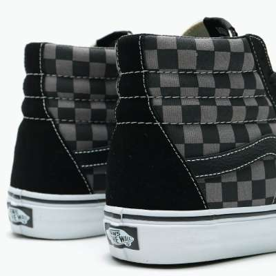 Vans Sk8-Hi Black/Pewter Checkerboard