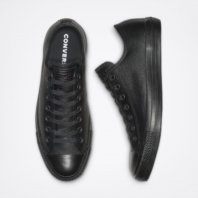 Converse All Star Leather Black Monochrome