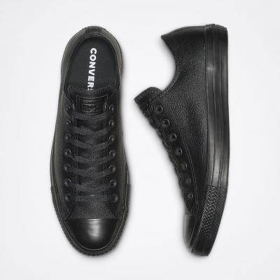 Converse All Star Leather Black Monochrome