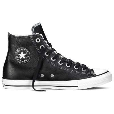 Converse CT HI Shearling Leather Black\White