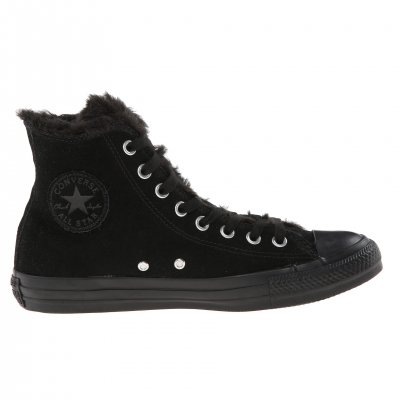 Converse All Star Suede & Fur Black