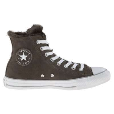 Converse All Star Suede & Fur Charcoal