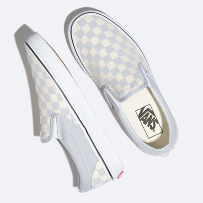 Vans Slip-On (Checkerboard) Gray Dawn