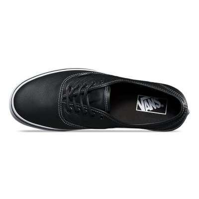 Vans Authentic (Leather) Black/Plaid