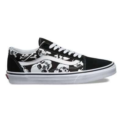 Vans Old Skool (Skulls) Black
