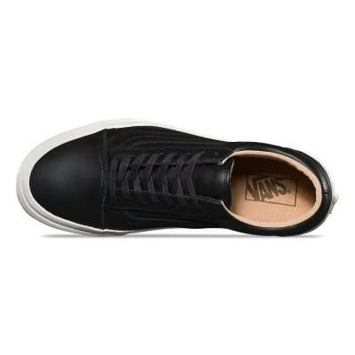 Vans Old Skool (Lux Leather) Black/Porcini