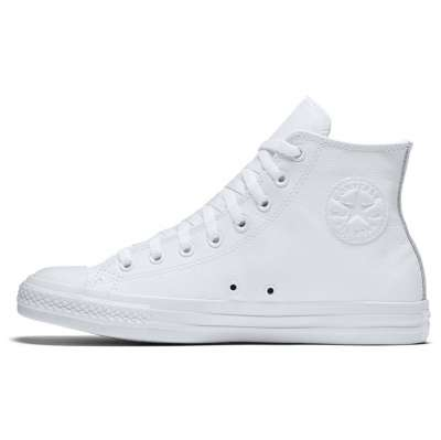 Converse All Star Leather Hi White Monochrome 1T406