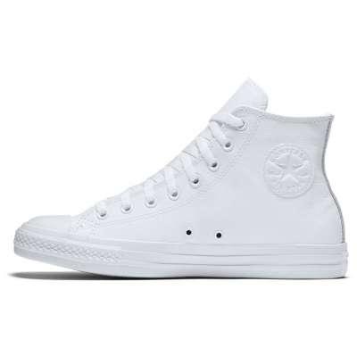 Converse All Star Leather Hi White Monochrome 1T406