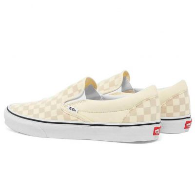 Vans Classic Slip-On (Checkerboard) Classic White
