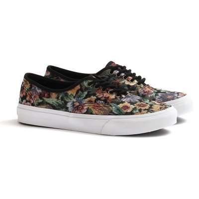 Vans Authentic Slim (Tapestry Floral) Black