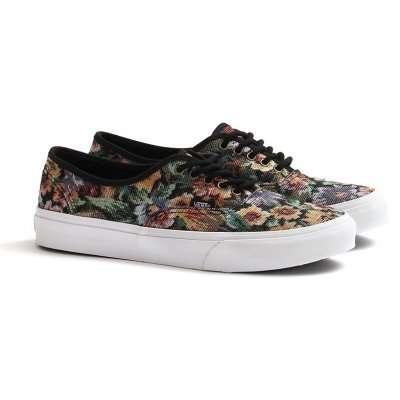 Vans Authentic Slim (Tapestry Floral) Black