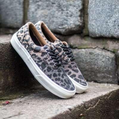 Vans Era CA (Ombre Dyed Cheetah) Black
