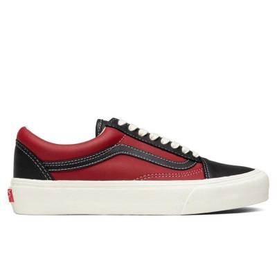 Vans Vault Old Skool LX (Leather) Black/Chili Pepper